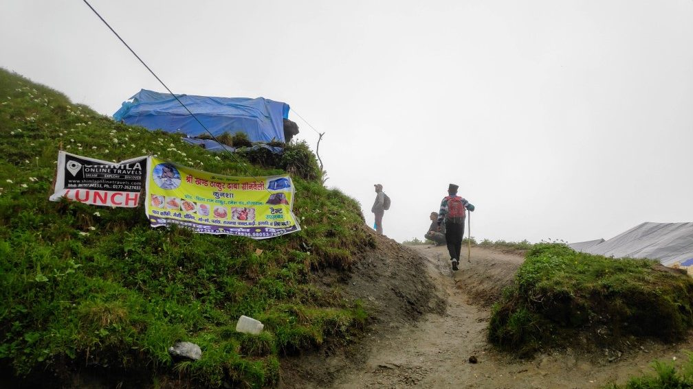 THIS PLACE IS KNOWN AS KUNSHA, HERE YOU CAN ALSO FIND FOOD AND SLEEPING TENTS FOR THE NIGHT STAY