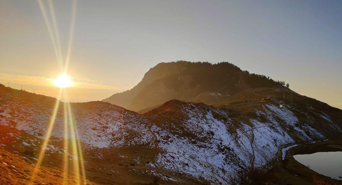sunset at prashar lake